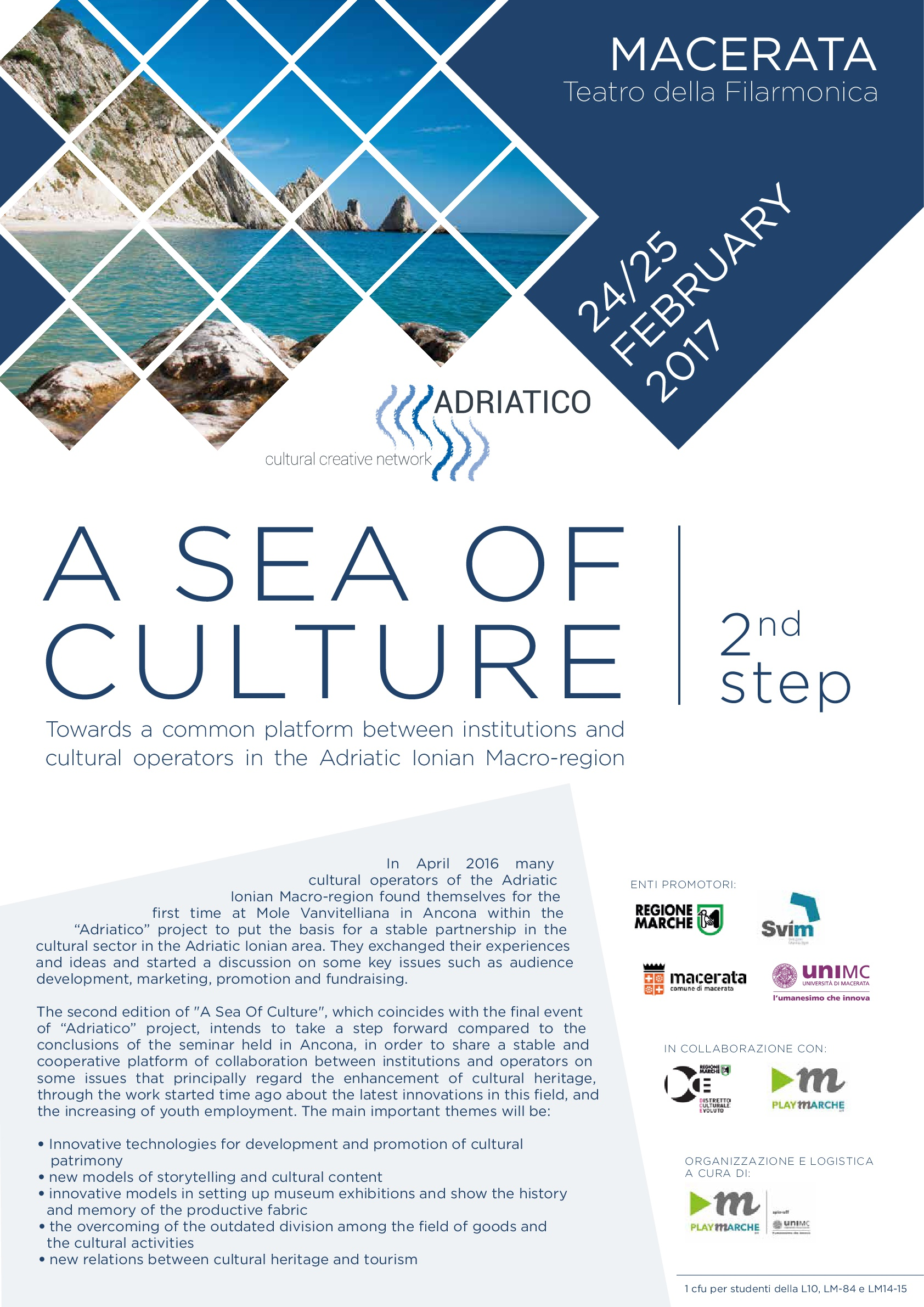 "Convegno ""A SEA OF CULTURE MACERATA"" Towards a common platform between institutions and cultural operators in the Adriatic Ionian Macro-region"