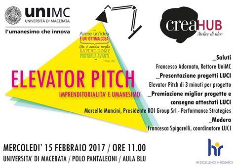 Pitch Day LUCI - Laboratorio Umanistico per la Creatività e l'Innovazione