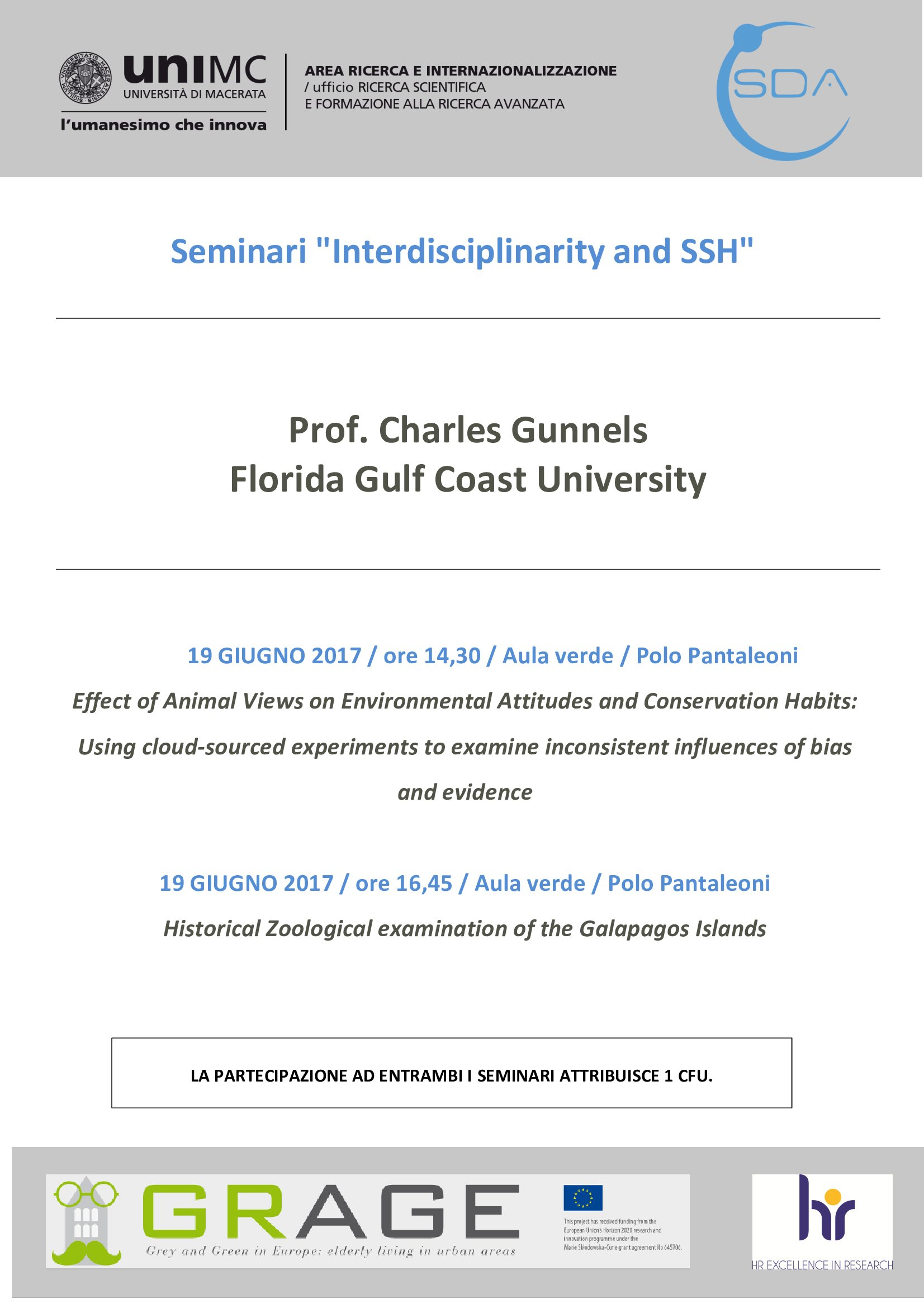 Seminari Interdisciplinarity and SSH